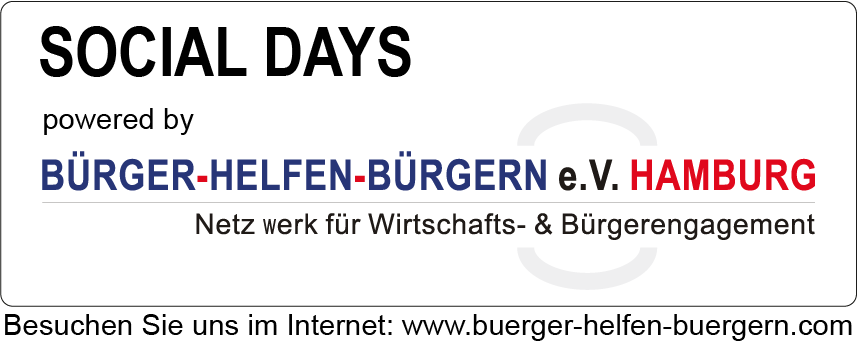 Social Days Hamburg powered by BÜRGER-HELFEN-BÜRGERN e.V. HAMBURG